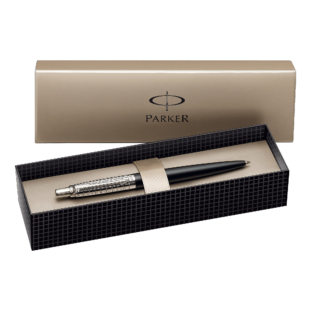Parker-Jotter-Red-Chrome-Trim-Ball-Pen-Gift-Boxed
