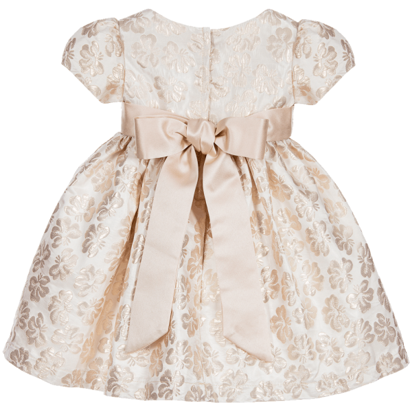 Romano Princess Baby Girls Brocade Dress